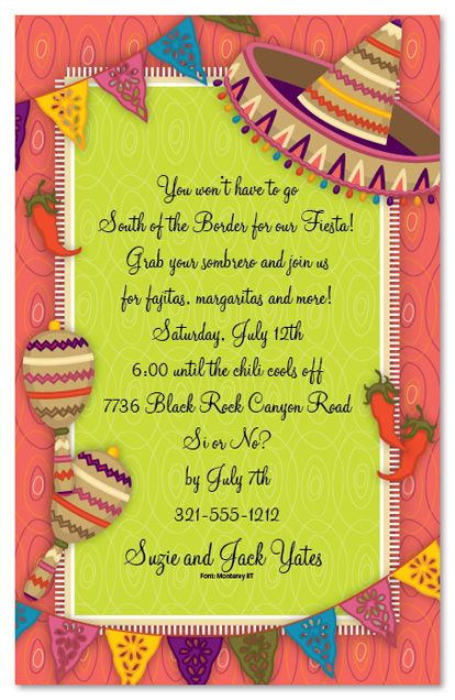 Mexican Parties Mexican Party Party Invitations 22319