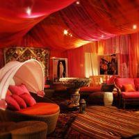 beautiful bold draped fabric ceiling | Dramatic home ...