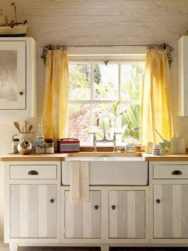 Sweet Small Kitchen Window Ideas Curtain : Comfortable