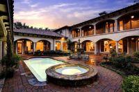 Spanish Hacienda with Courtyard Pool and fountain ...