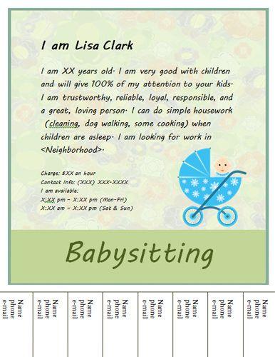 babysitting adds