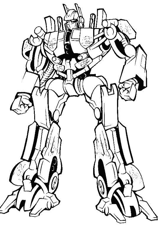 Transformers Ready Will Eradicate Crime Coloring Page