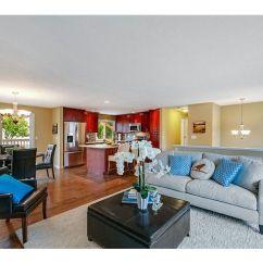 Open Plan Kitchen Living Room Flooring Ideas Bobs Furniture Sets | Bi Level Remodel Pinterest Home ...