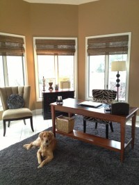 I converted my sunroom to my home office. Added texture ...