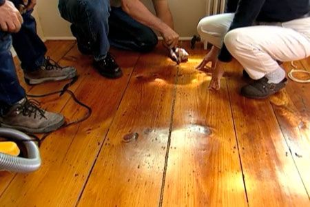 How to Fill Gaps In a WidePlank Wood Floor  Stains Toms and Planks