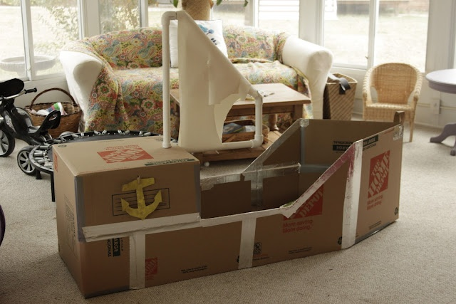 Cardboard Pirate Ship My Kids Are ALWAYS Asking To Make A