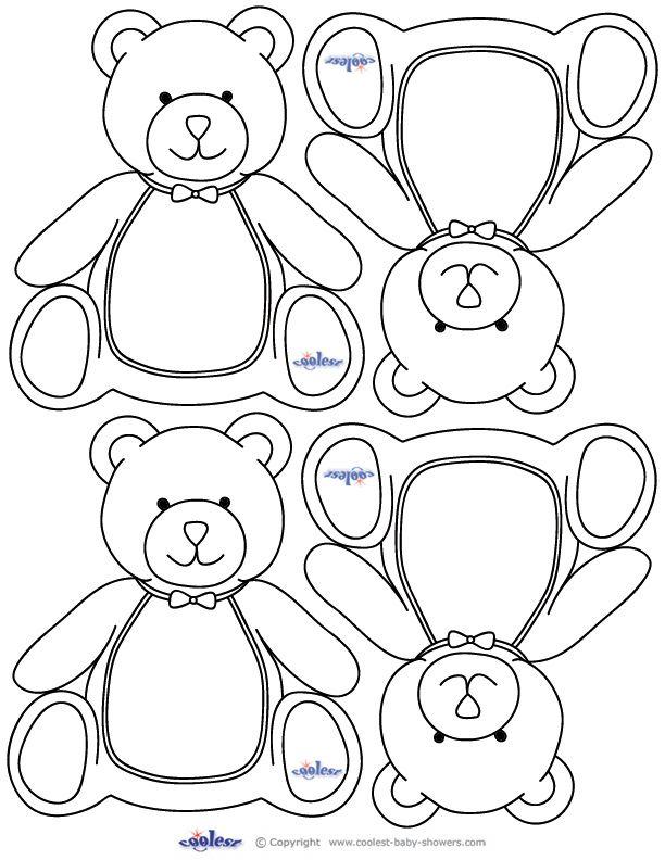 Teddy Bear Baby Shower, teddy bear printables. These would