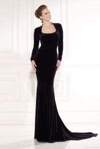 New Arrival Black Tarik Ediz Prom Dress 2015 Long Sleeves ...
