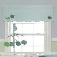 nursery window treatments | Whale Window Valance 375909071 ...
