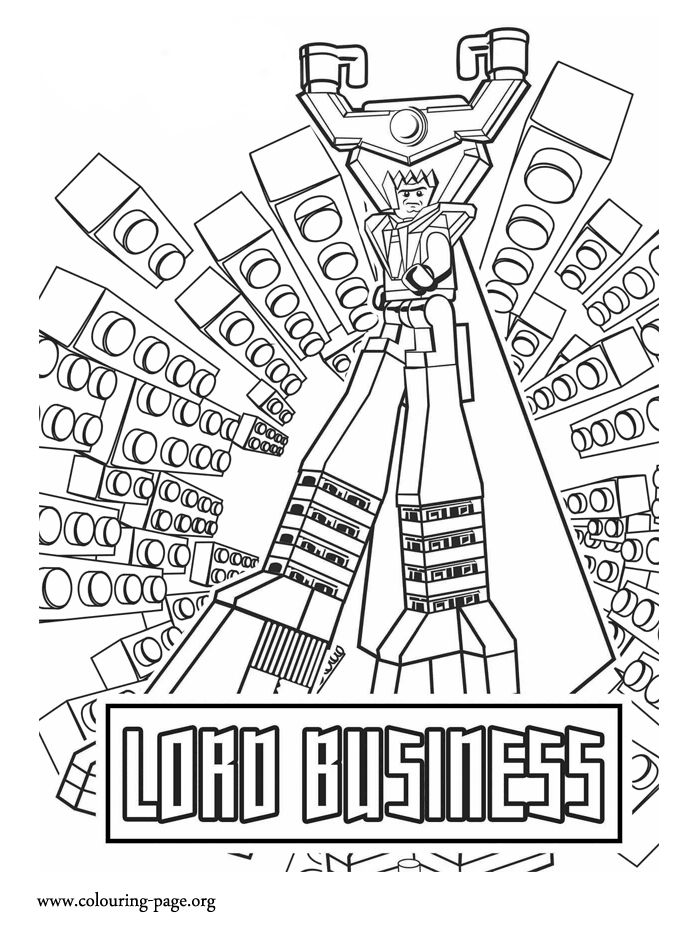 Lord Business is a evil tyrant who wants to destroy the
