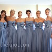 dusty blue bridesmaids dresses!
