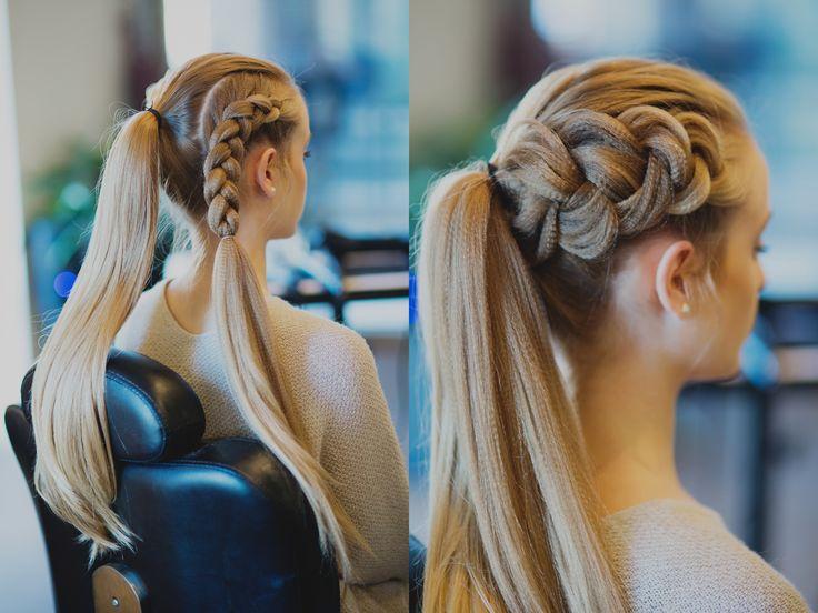 Place The Hair Into A Ponytail Then Create A Dutch Braid