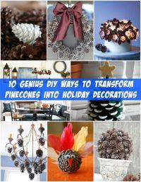 10 Genius DIY Ways to Transform Pinecones into Holiday ...