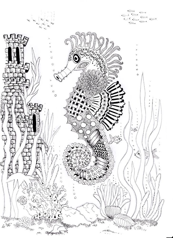 53 best images about Adult Coloring Pages: Underwater