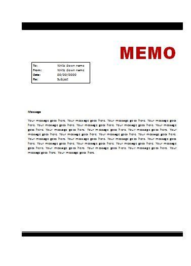 Memo Template Office Work Pinterest