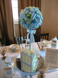 Blue and Green Baby Shower Party Ideas | Centerpieces ...
