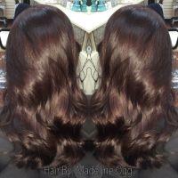 Deep chocolate brown with red-violet undertones | My Hair ...