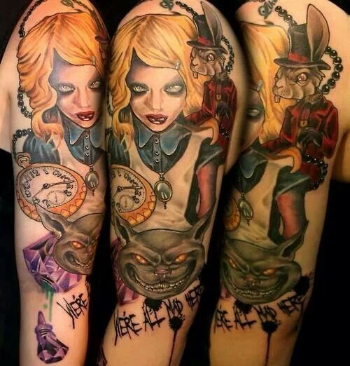31 best images about Dark Alice tattoo ideas on Pinterest