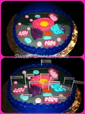 Animal Cell Cake Model | My Cakes  My work (wwwsweetimpressions77) | Pinterest | Models