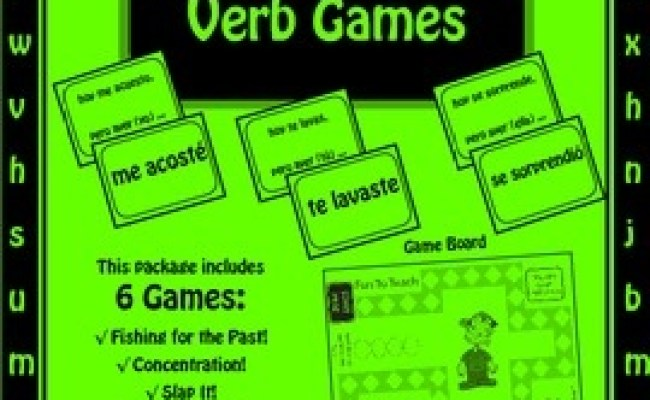 Spanish Reflexive Past Tense Verb Games Games And Lesson