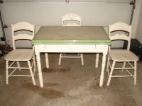 Vintage 1930's Porcelain Kitchen Table with Two Leafs and ...