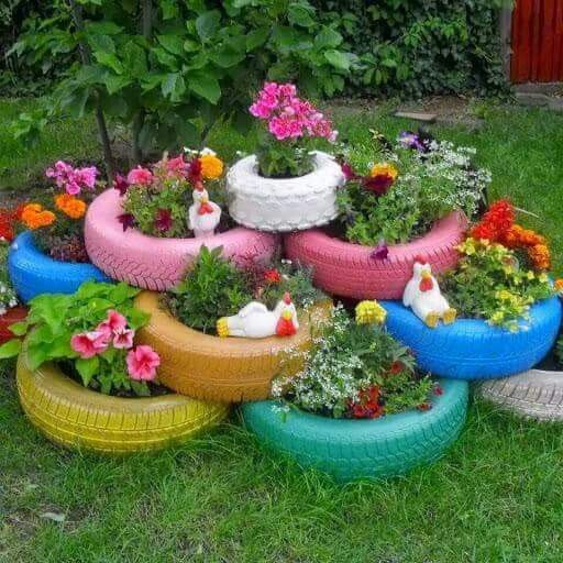 25 Best Ideas About Tire Garden On Pinterest Tire Planters