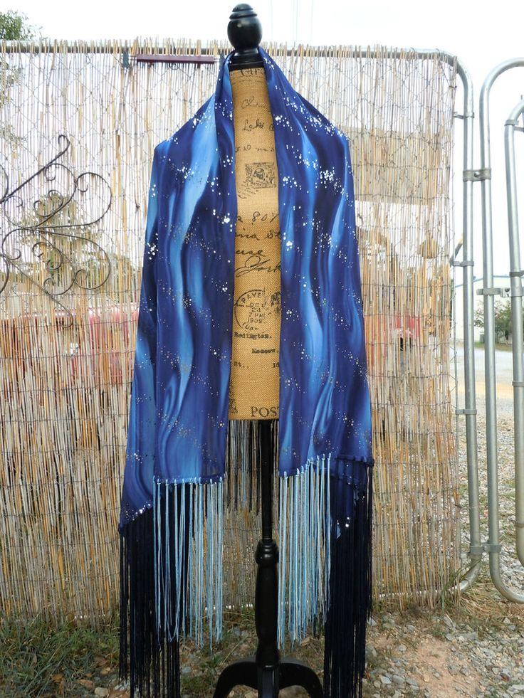 """Mysterious Universe""Native American Style Shawl,Regalia"