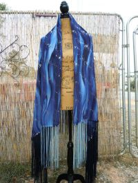 """Mysterious Universe""Native American Style Shawl,Regalia"