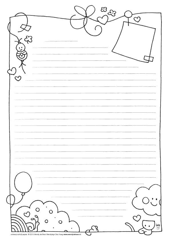 17 Best images about Printable Lined Writing Paper on