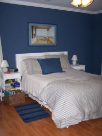 Blue Bedroom, Denim blue paint from Sherwin-Williams ...