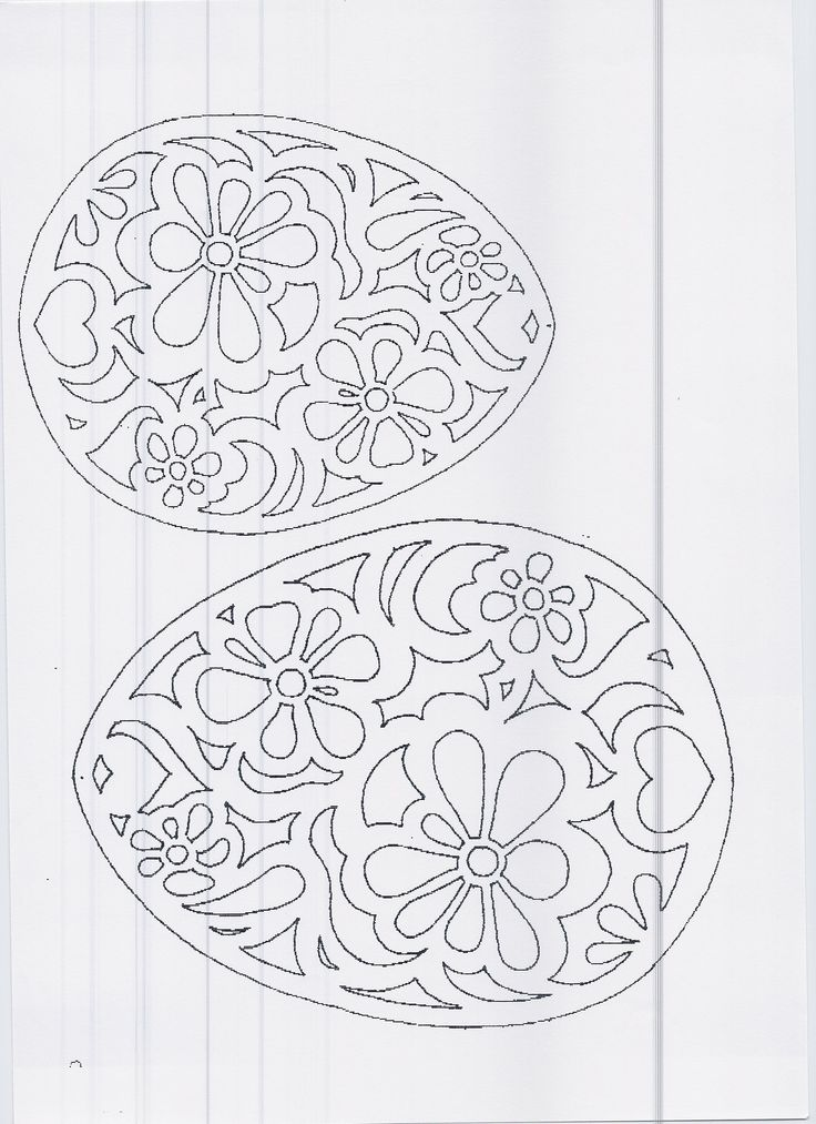DIY: Floral eggs. Free Paper craft; stencil/template