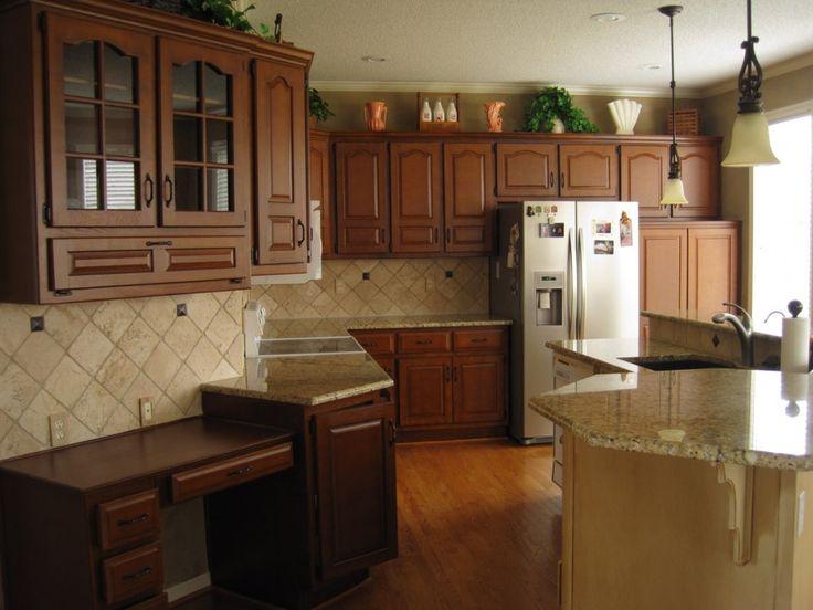 ceramic tile kitchen backsplash aid gas stove restaining oak cabinets   future house pinterest ...