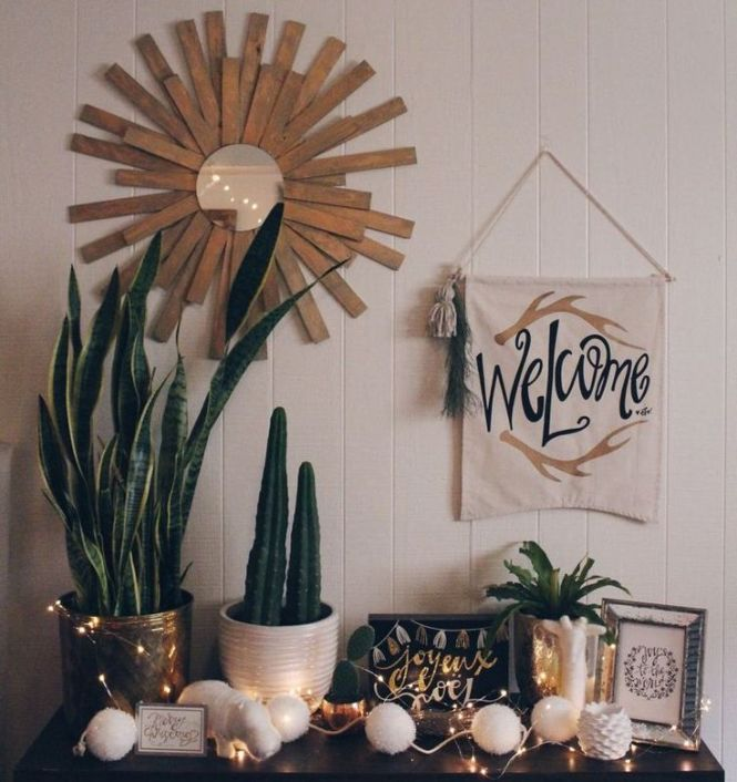 College Apartment Decor Gold Succulent Cacti Typography For The Love Of