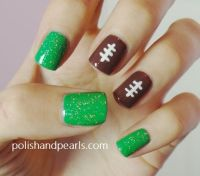 25+ best ideas about Football nails on Pinterest