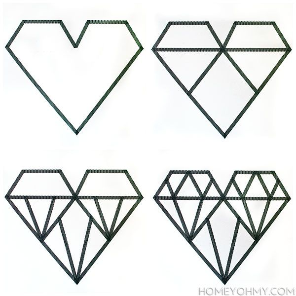 25+ best ideas about Diamond heart tattoos on Pinterest