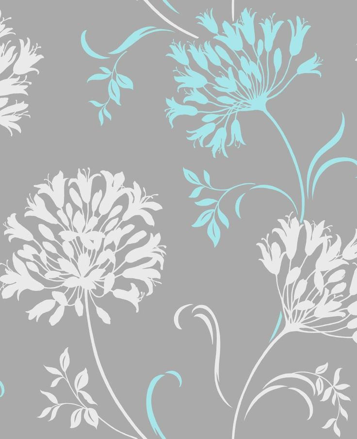 Grey turquoise wallpaper  Wallpapers  Pinterest