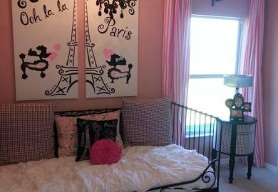 Girls Bedroom Paris Theme