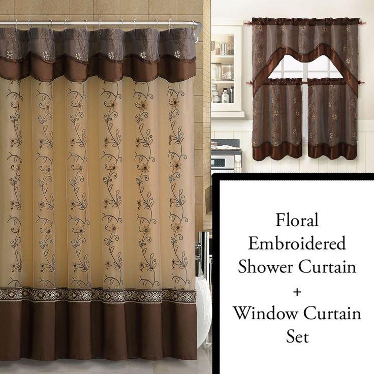 15 best ideas about Brown Shower Curtains on Pinterest  Apartment bedroom decor Monogram
