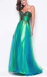 Blue green prom dress | Prom | Pinterest | Blue green ...