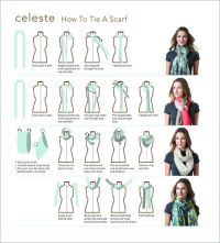 scarf tying | Love this Look! | Pinterest | Warm, Projects ...
