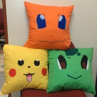 New Set of 3 Pokemon Characters Handmade Accent Pillows ...