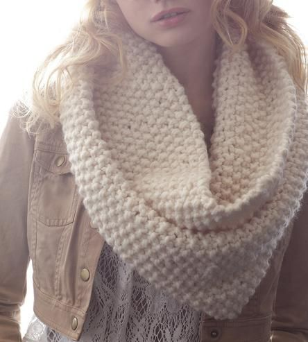 White Wool Infinity Scarf by Claire Verity on Scoutmob Shoppe