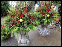 fall/winter outdoor planters | Flower arrangements ...