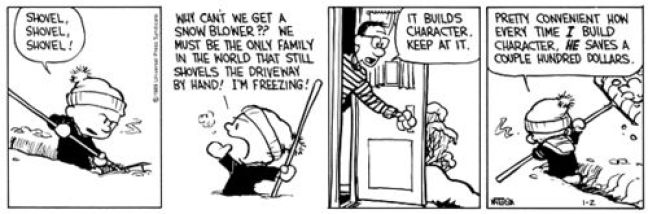 Image result for snow blower calvin and hobbes