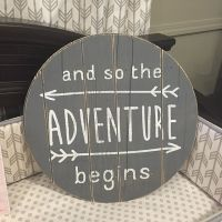 and so the adventure begins - wall art for nurseries ...