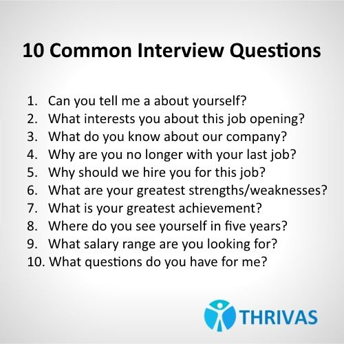 10 Common #interviewquestions Make Sure To Be Prepared