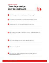 This logo design brief questionnaire can be used to help ...