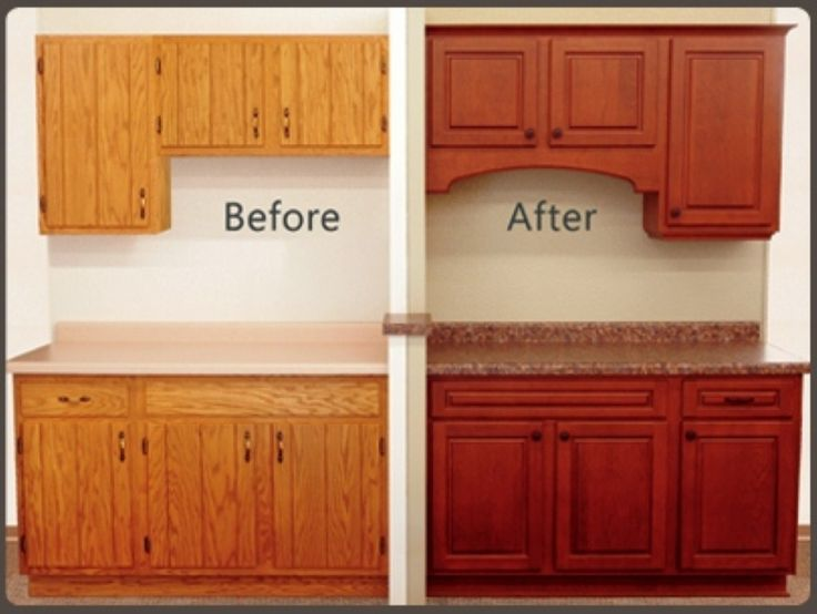 Cabinet Refacing Before And After  Kitchen Designs
