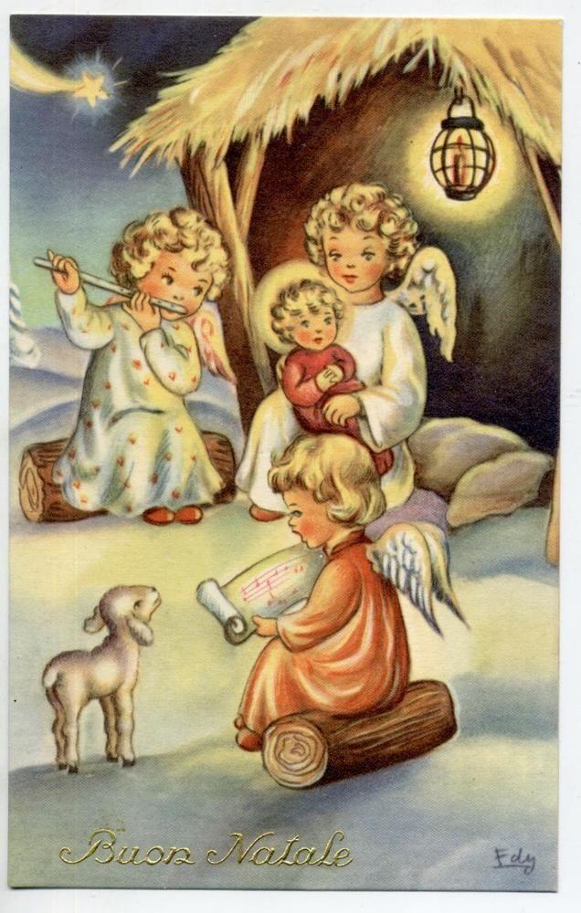 706 best BUON NATALE e BUON ANNO images on Pinterest  Vintage christmas cards Vintage