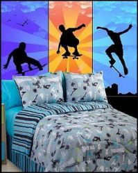 extreme sports bedding set for boys and teens, in shades ...